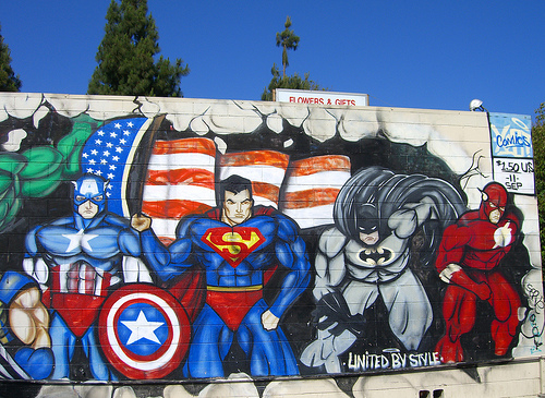 Superhero wall