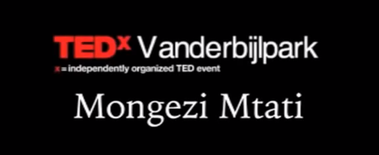 Mongezi Mtati's talk at TEDx Vanderbijlpark on leading communities and influence.