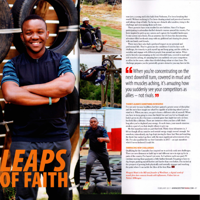 Leaps of Faith by Mongezi Mtati On: Destiny Man, Feb 2017