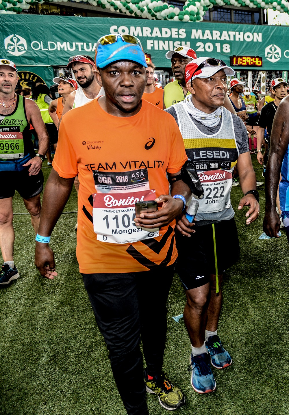 Mongezi Mtati at the Comrades Marathon Finish Line