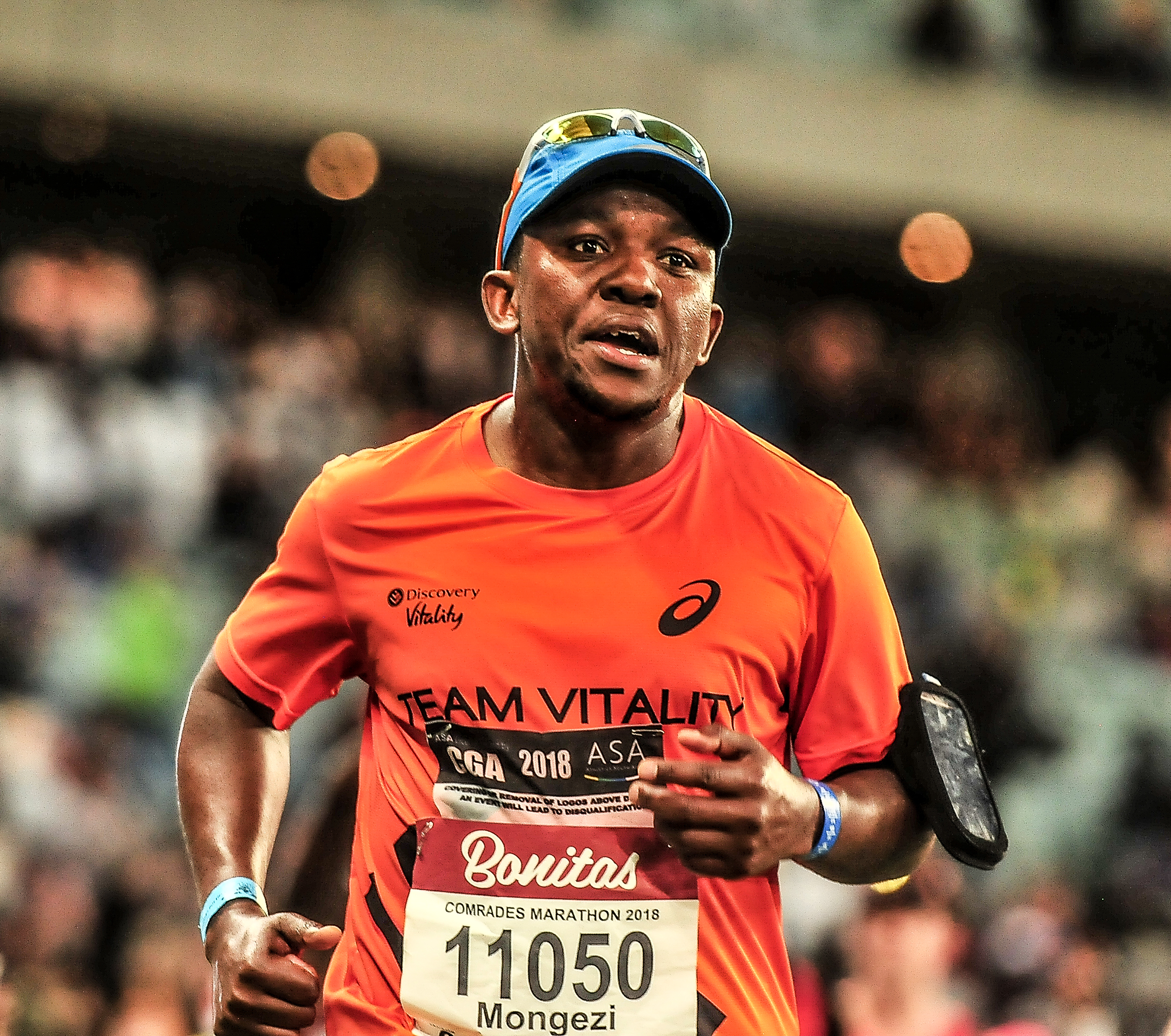 Mongezi Mtati at the Comrades Marathon 2018
